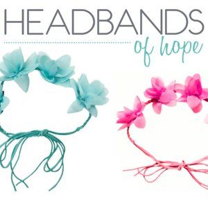 NWT 2 Headbands of Hope FlowerCrowns Pink & Blue +